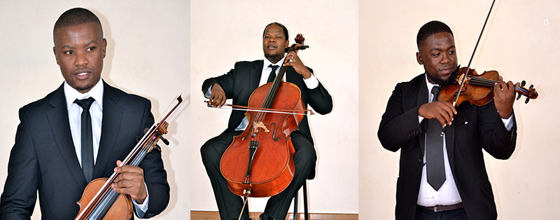 The talented string players from the Resonance string quartet
